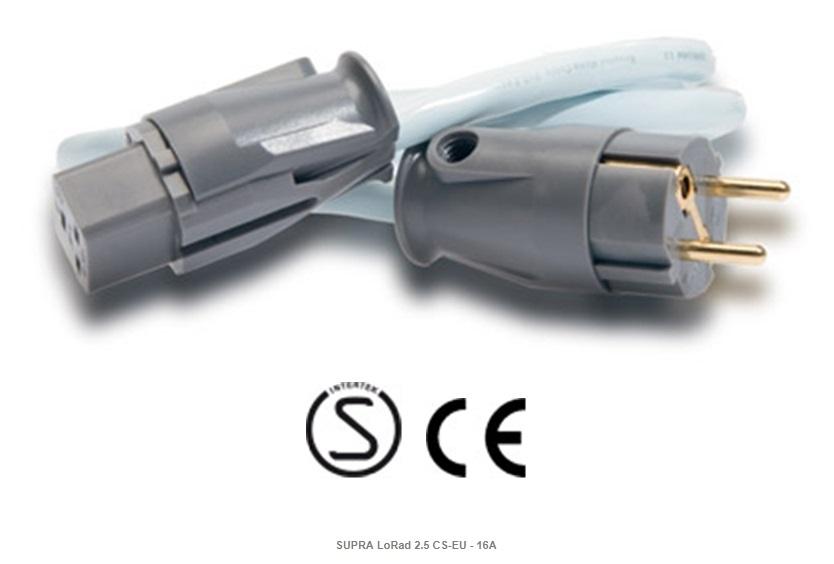 Supra Cables SUPRA LoRad 2.5 CS-EU - 16A Délky kabelů: 1,0 m