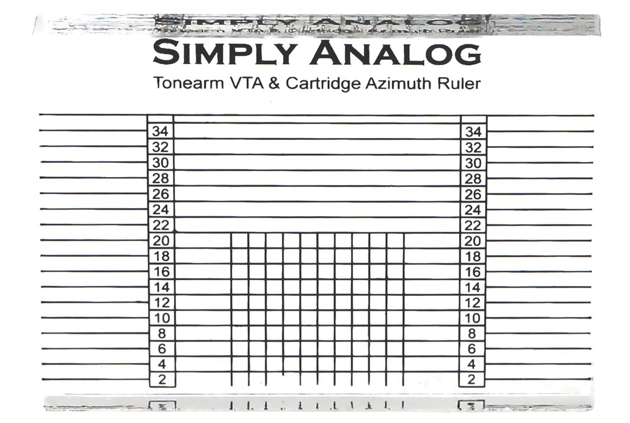 Simply Analog - Tonearm VTA & Cartridge Azimuth Ruler