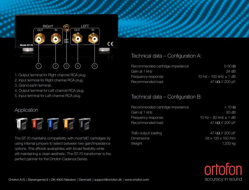 Ortofon ST-70 MC Transformer