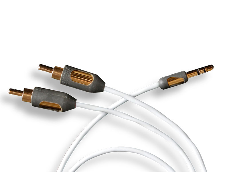 Supra Cables SUPRA MP-CABLE MINI PLUG-2RCA Délky kabelů: 1,0 m