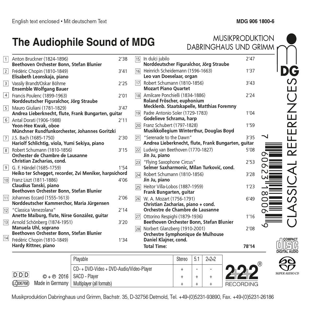 Různé značky The Audiophile Sound of Mdg