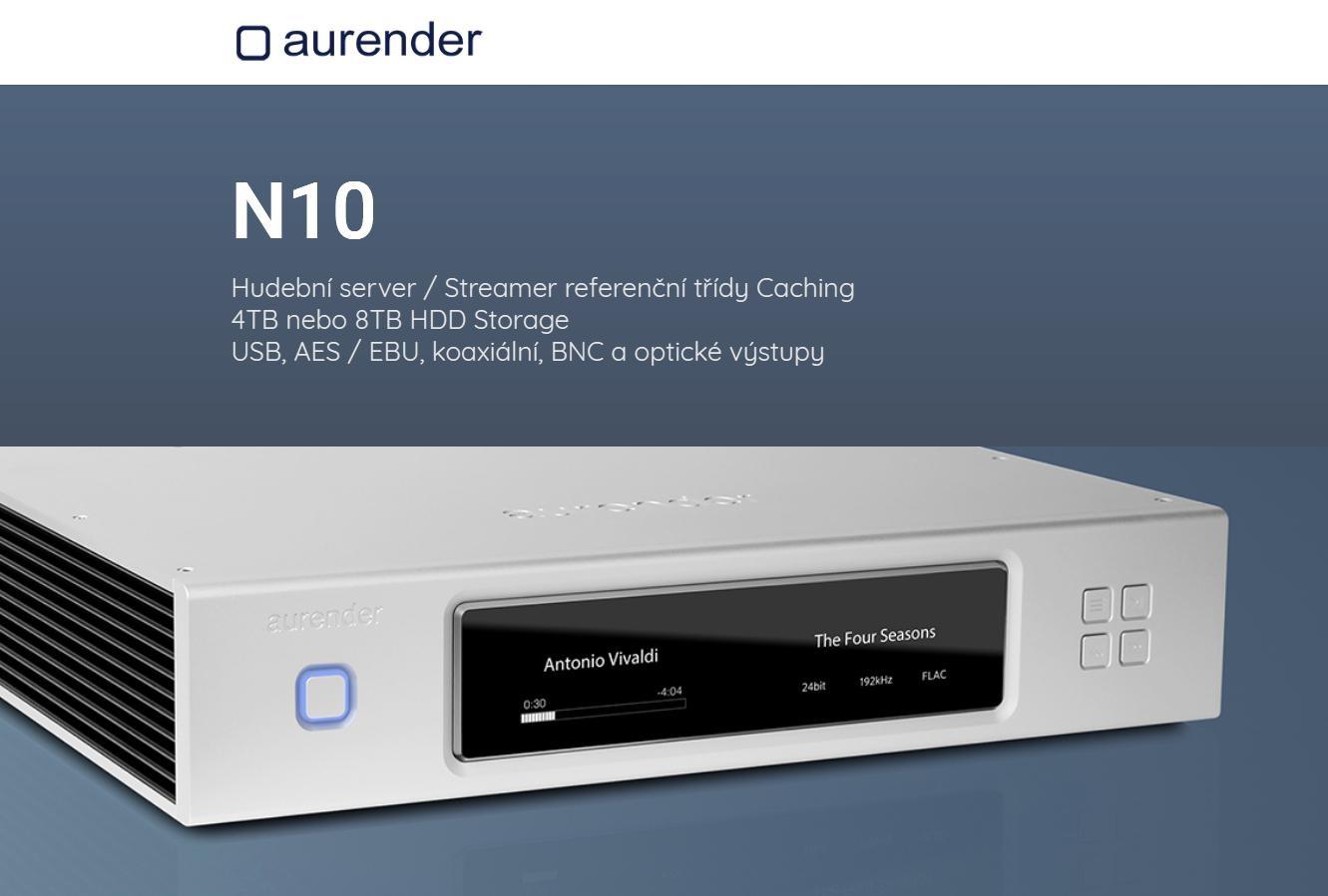 Aurender N10 - 8TB Barevné provedení: stříbrné
