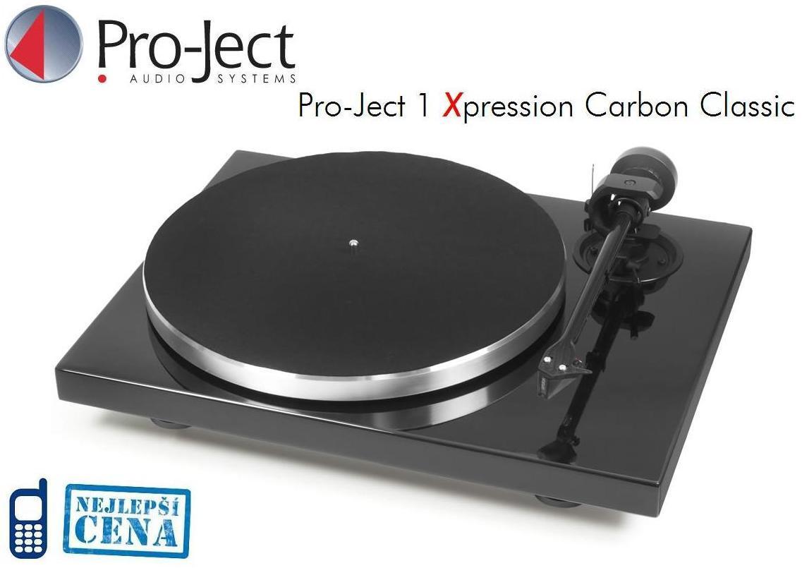 Pro-Ject 1Xpression Carbon Classic (2M-Silver) Barevné provedení: piano black - černá