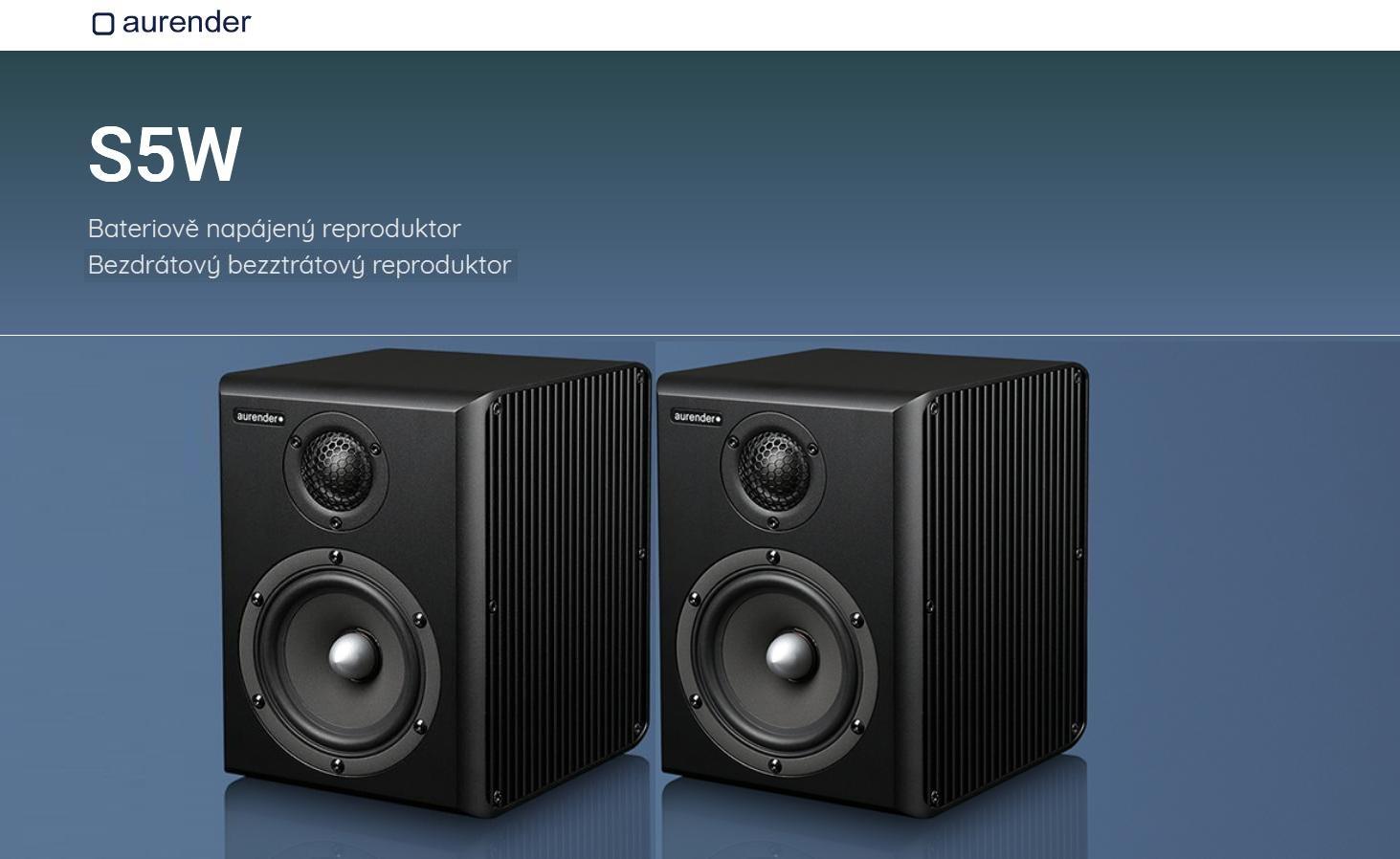 Aurender S5W Barevné provedení: černé