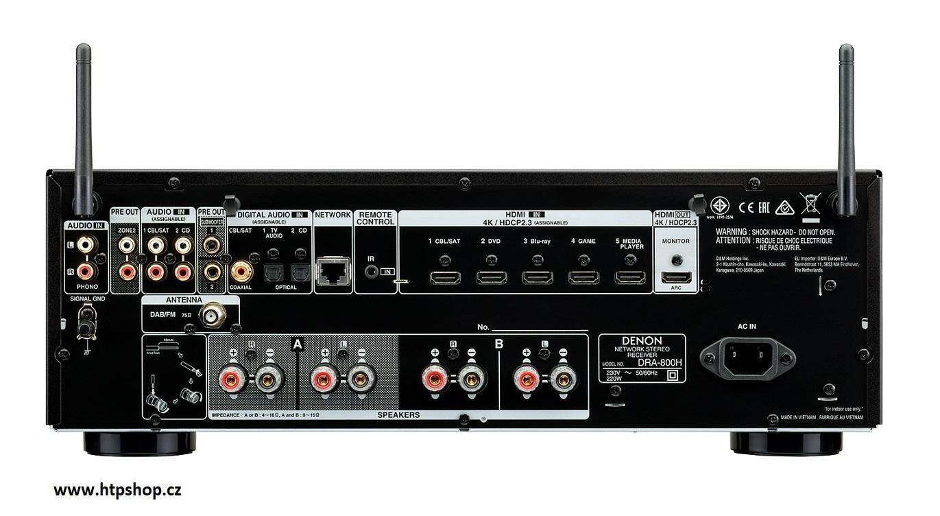 Denon DRA-800H Barevné provedení: černé - black
