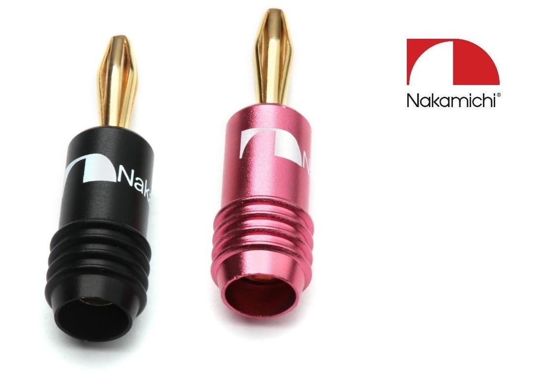 Nakamichi - Banana Plugs N0646B Barevné provedení: červené - red