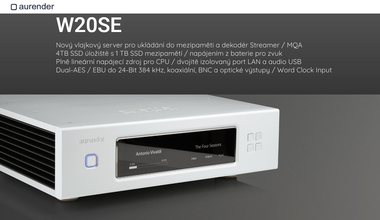 Aurender W20 SE Barevné provedení: stříbrné