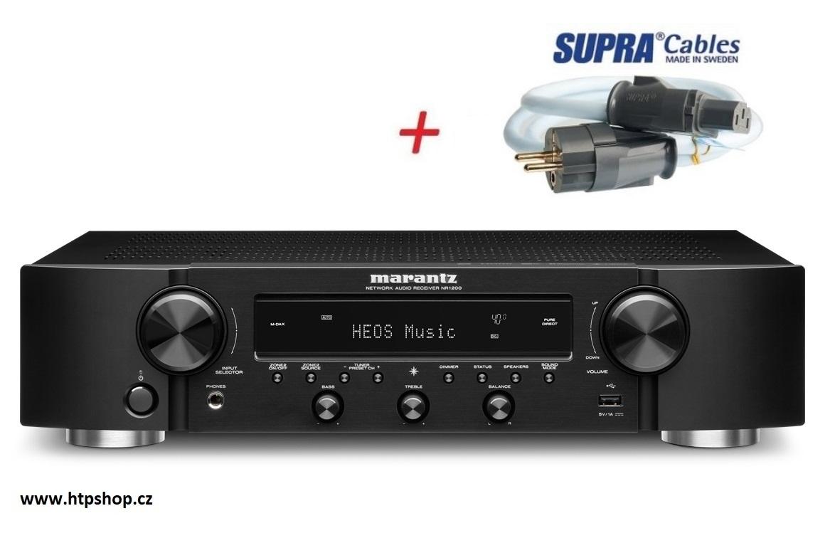 Marantz NR1200 + síťový kabel SUPRA LoRad 2.5 CS-EU Barevné provedení: černá - black
