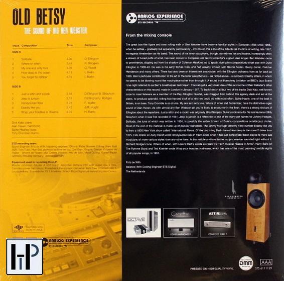 STS Digital - BEN WEBSTER - OLD BETSY, THE SOUND OF BIG BEN WEBSTER