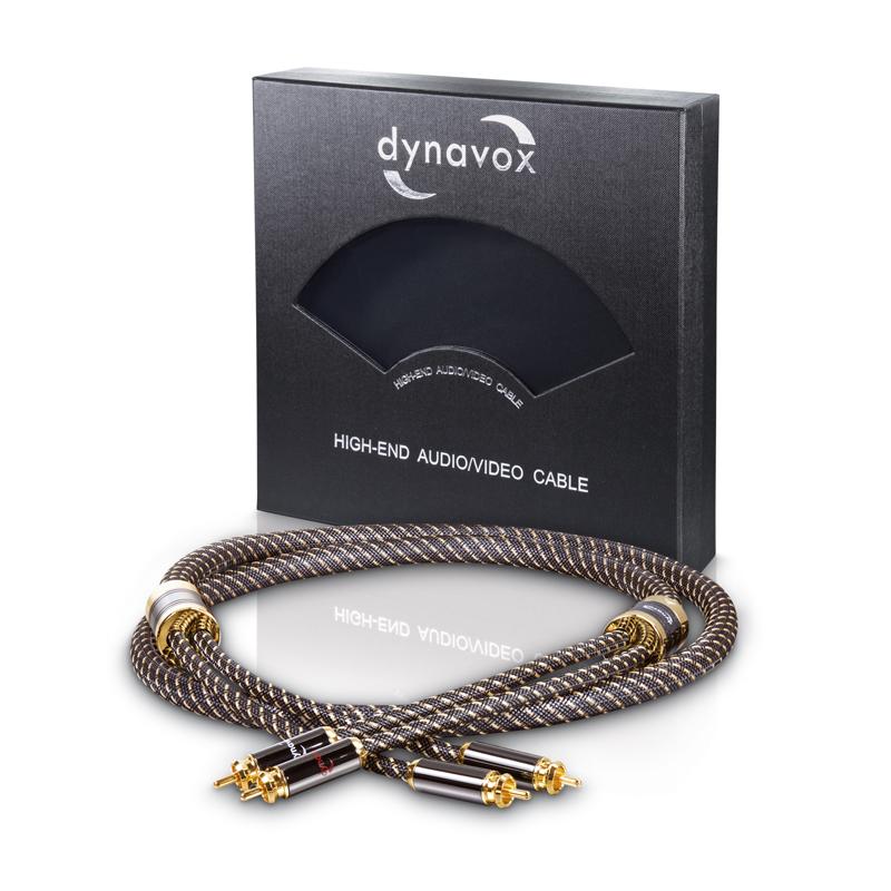 Dynavox Black Line Stereo-Cinchkabel Délky kabelů: 1,0 m