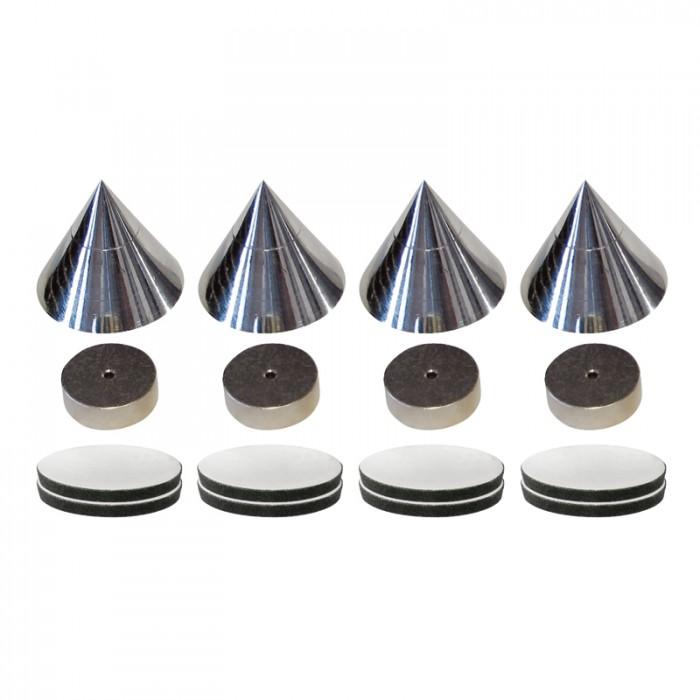 Dynavox - antirezonanční hroty A1 Barevné provedení: chrom - stříbrné
