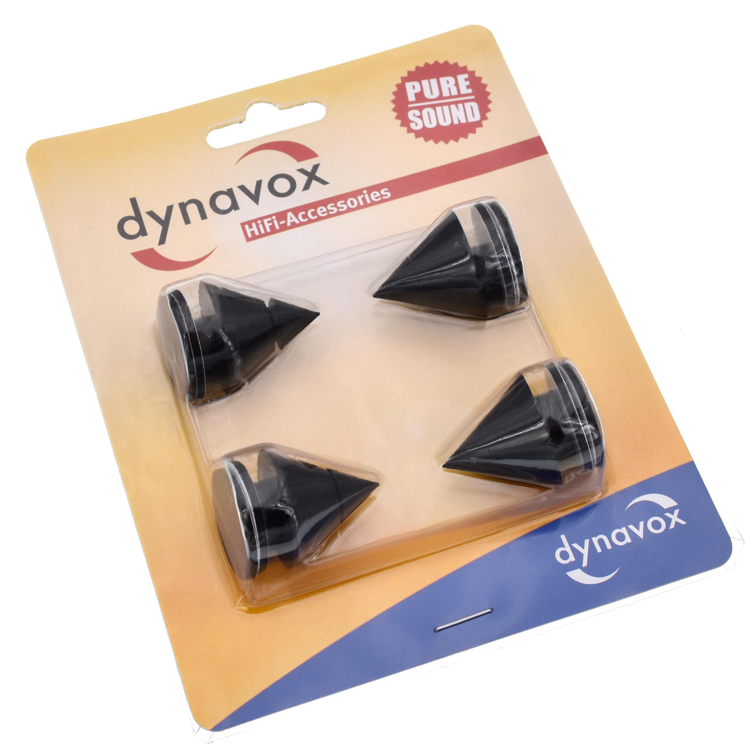 Dynavox - antirezonanční hroty A1 Barevné provedení: černá - black