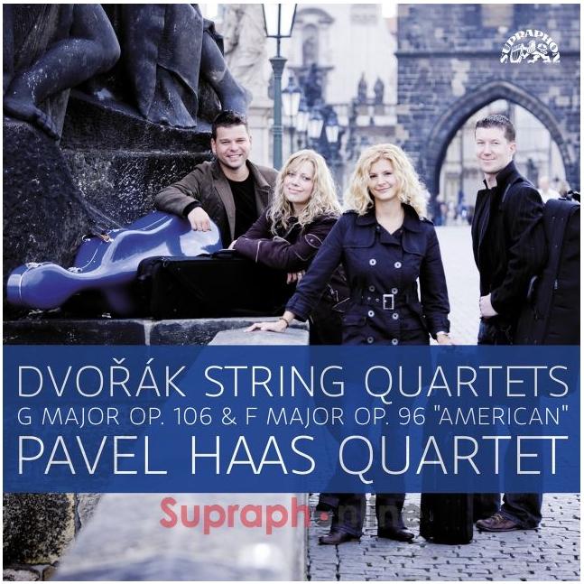 """Různé značky upraphon - Dvořák: Smyčcové kvartety G dur, op. 106 a F dur, op. 96 """"Americký"""" - Pavel Haas Quartet"""