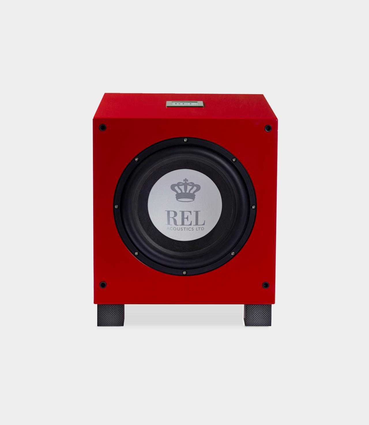 REL T/9i RED Barevné provedení: černý klavírní lak