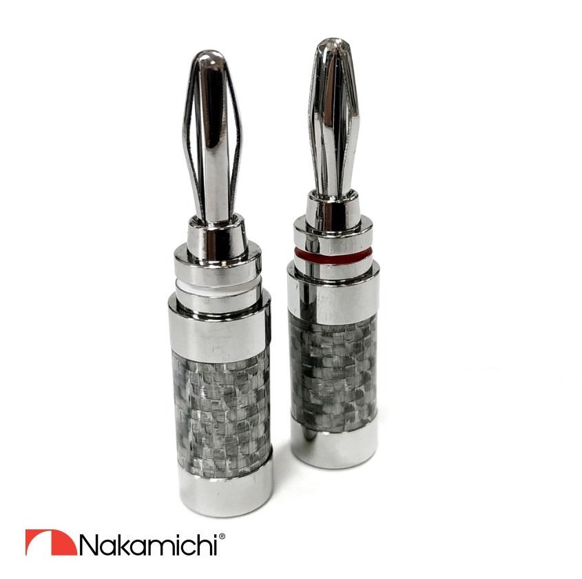 Nakamichi - Banana Plugs N04073 - Rhodium