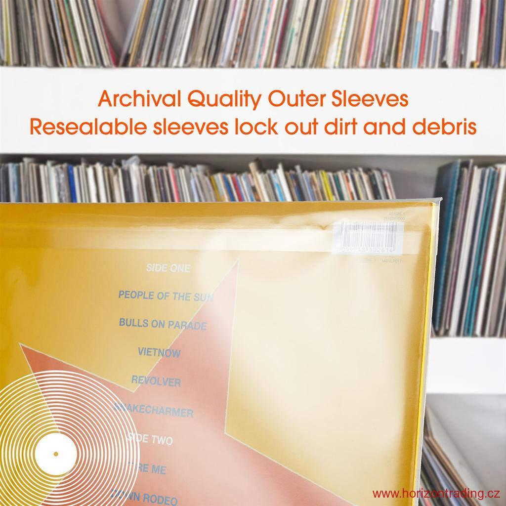 Spincare CLARITY 12 Inch SINGLE LP Resealable Outer Record Sleeves
