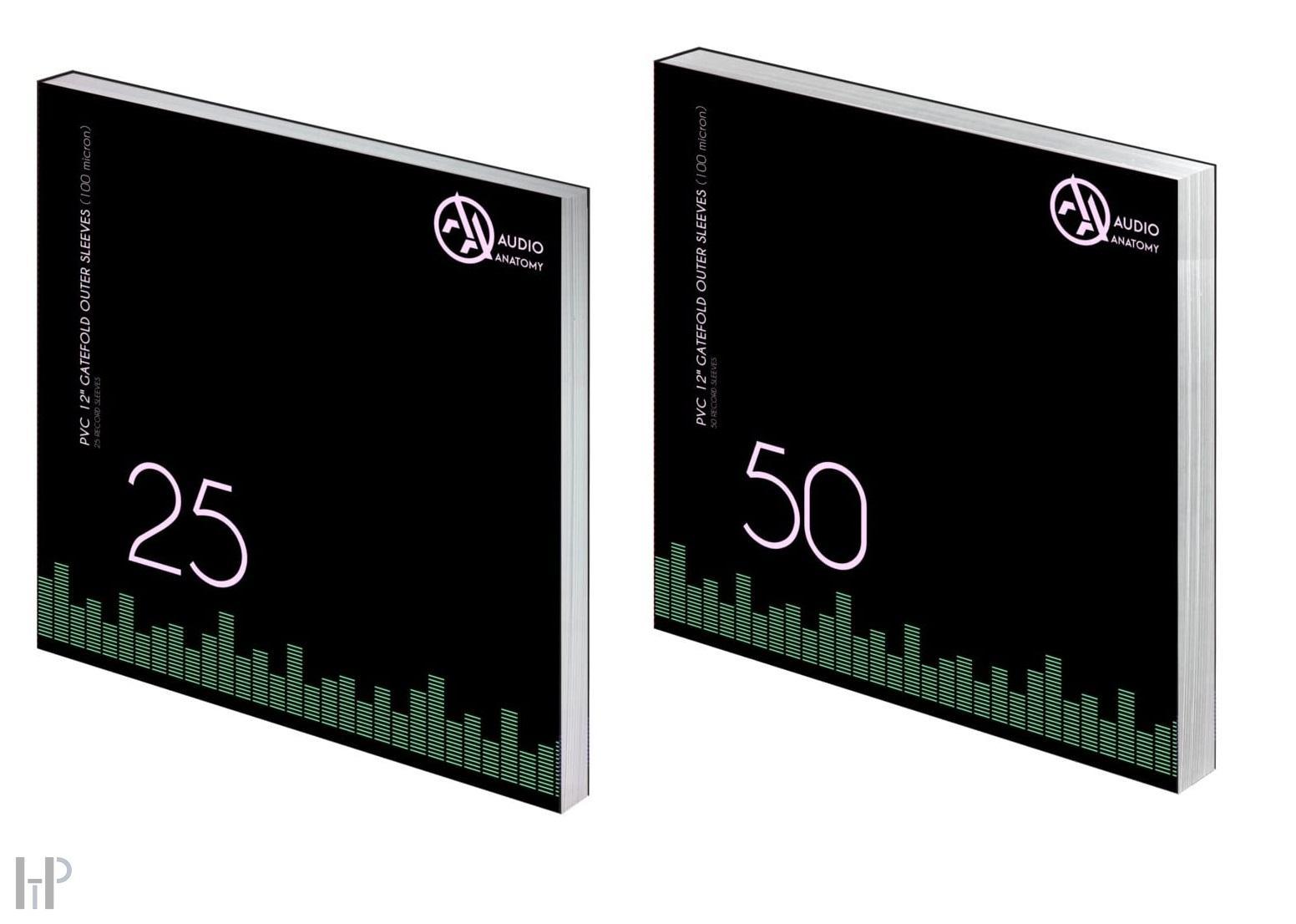 Audio Anatomy VINYL GATEFOLD OUTER PVC SLEEVES - 50 pcs Množství: 25 kusů