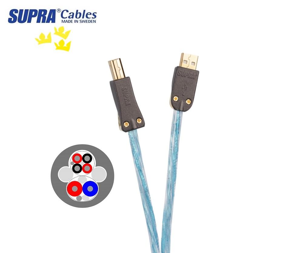 Supra Cables SUPRA USB 2.0 EXCALIBUR A-B Délky kabelů: 1,0 m