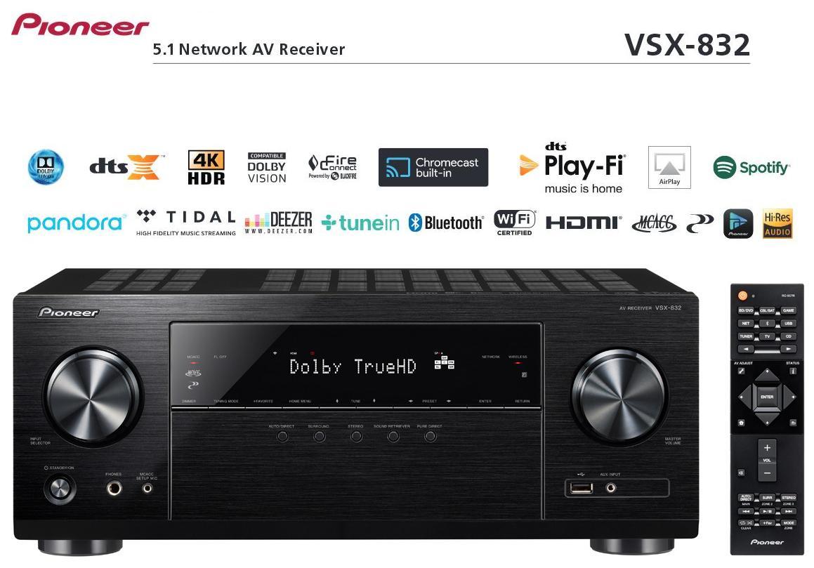 Pioneer VSX-832 Barevné provedení: černé - black