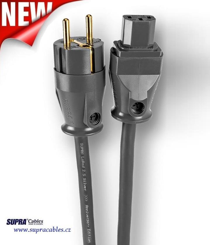 Supra Cables SUPRA LoRad 2.5 Silver CS-EU Anniversary - 10-16A Délky kabelů: 1,0 m