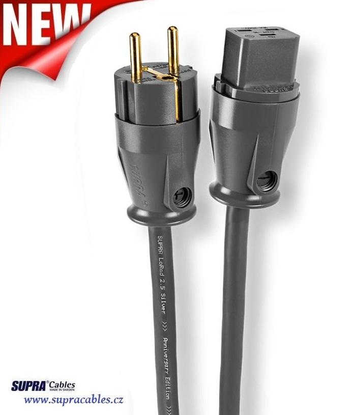 Supra Cables SUPRA LoRad 2.5 Silver CS-EU Anniversary - 16A Délky kabelů: 1,0 m