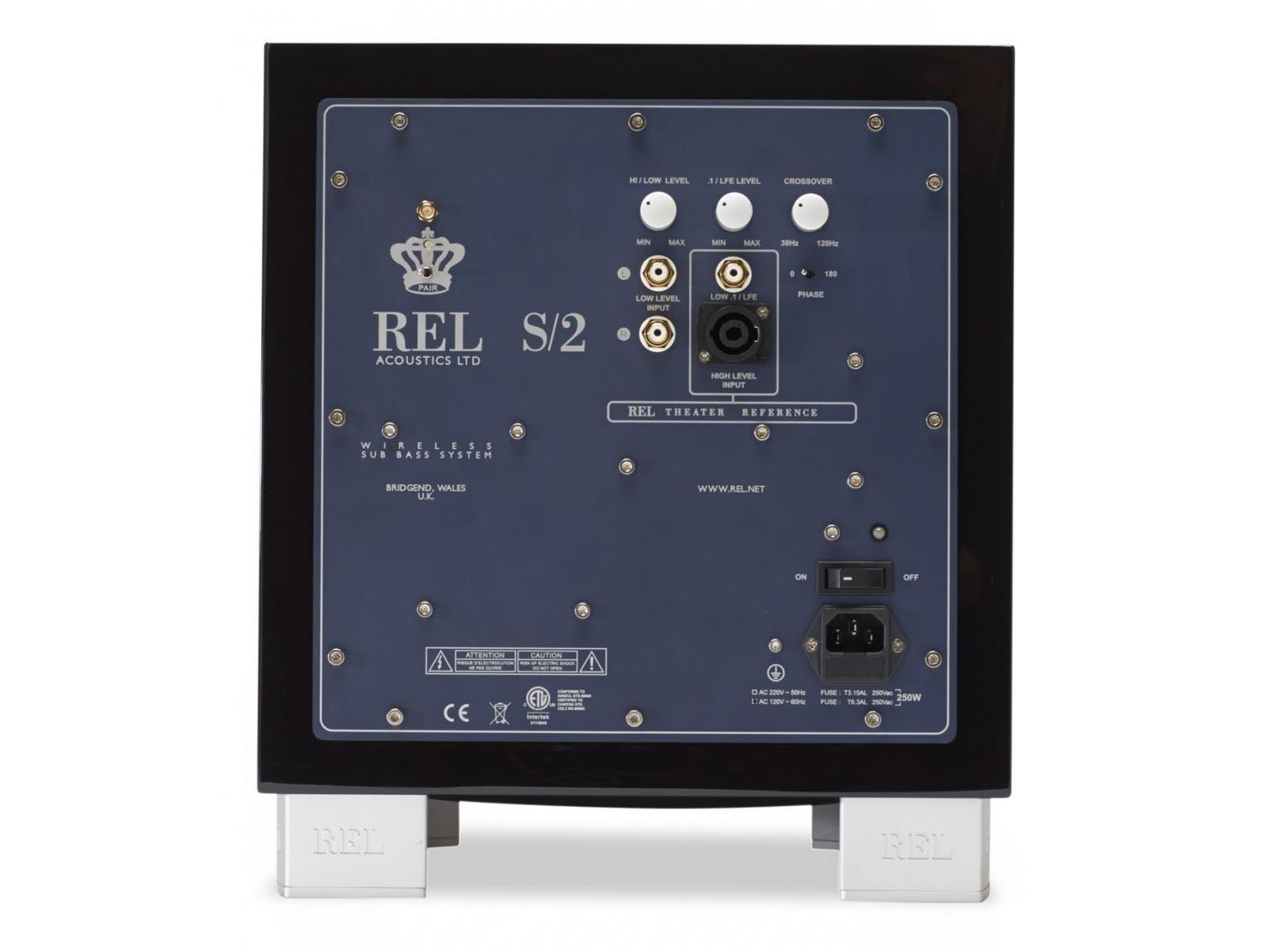 REL S/2 Barevné provedení: černý klavírní lak
