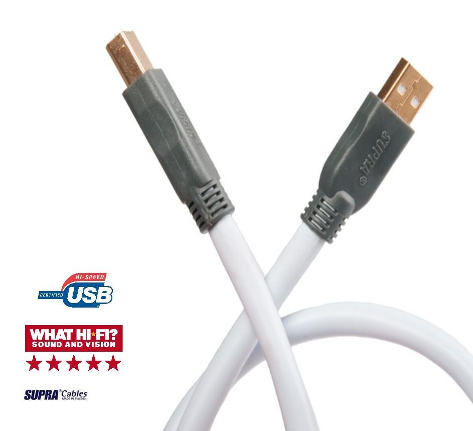 Supra Cables SUPRA USB 2.0 Hi-Speed Type A-B Délky kabelů: 5,0 m