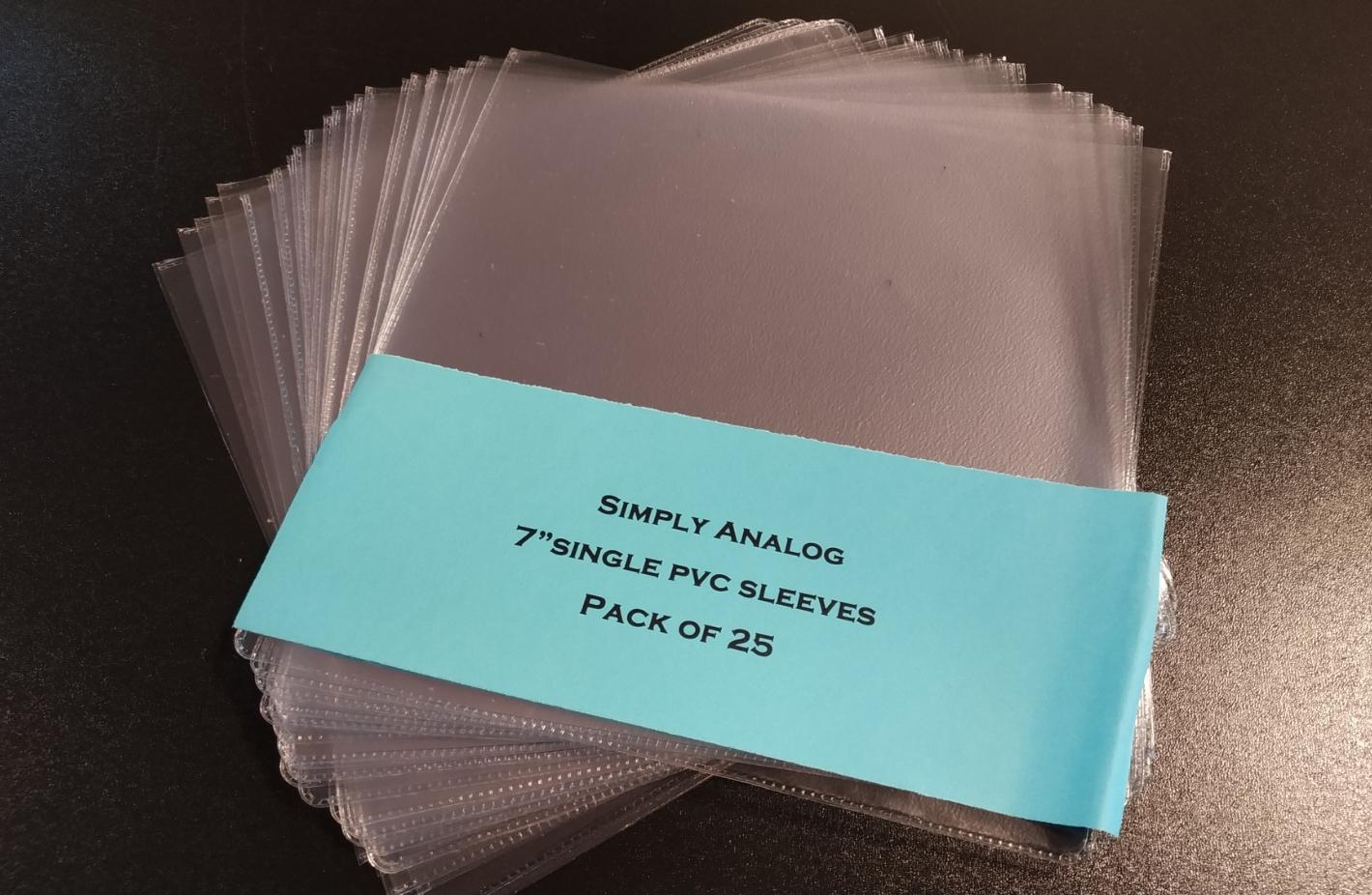 "Simply Analog - 7"" SINGLE PVC SLEEVES"