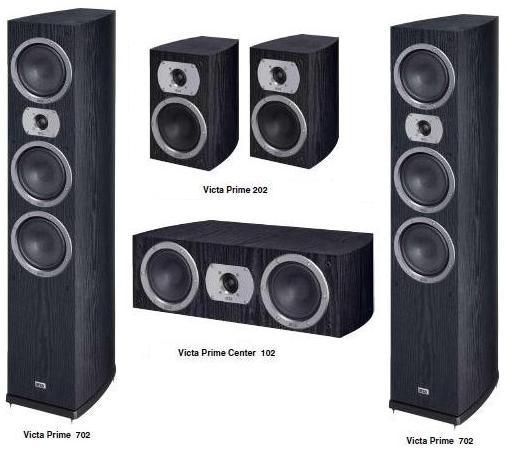 Heco Victa Prime 702 set 5.0 Barevné provedení: černá - black