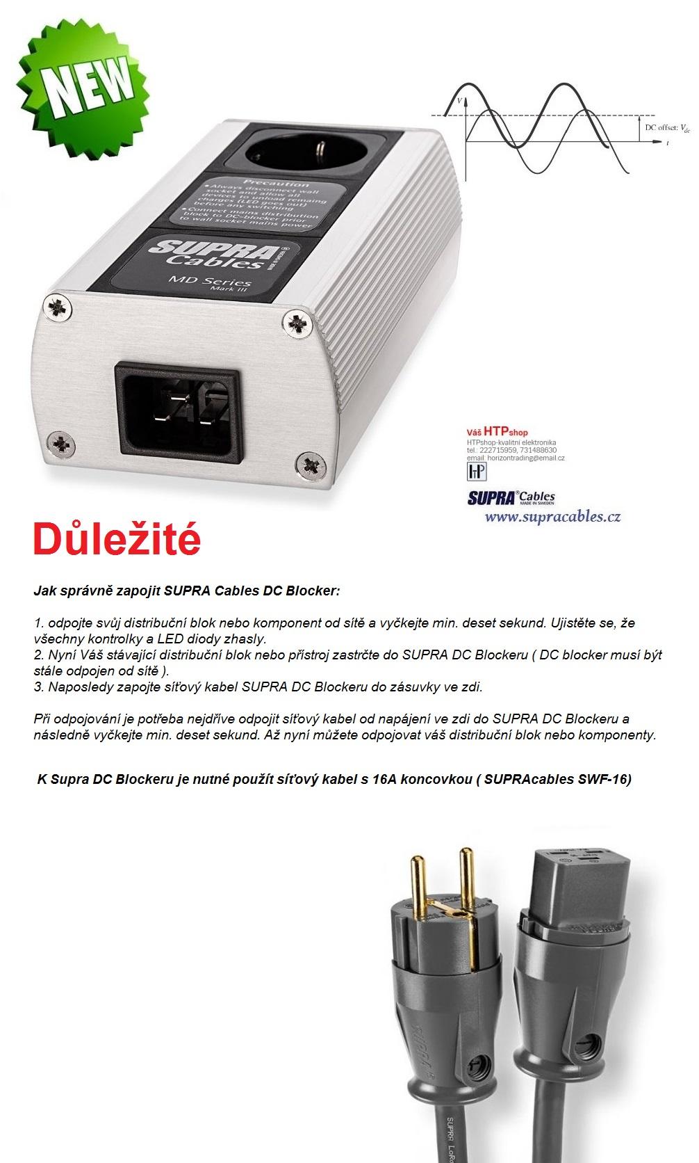 Supra Cables SUPRA LoRad MD01-16-EU DC-Blocker