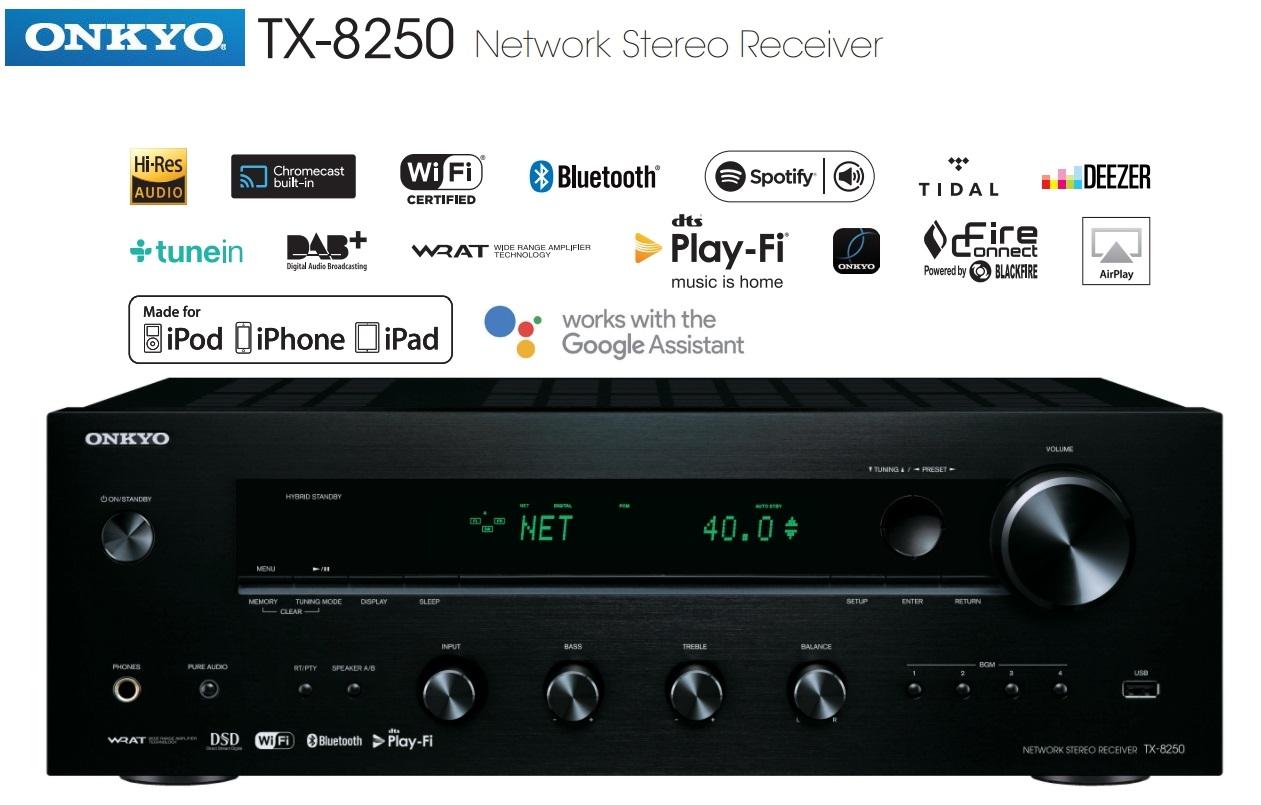 Onkyo TX-8250 Barevné provedení: černé