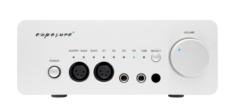 Exposure XM HP Headphone Amplifier Barevné provedení: stříbrné