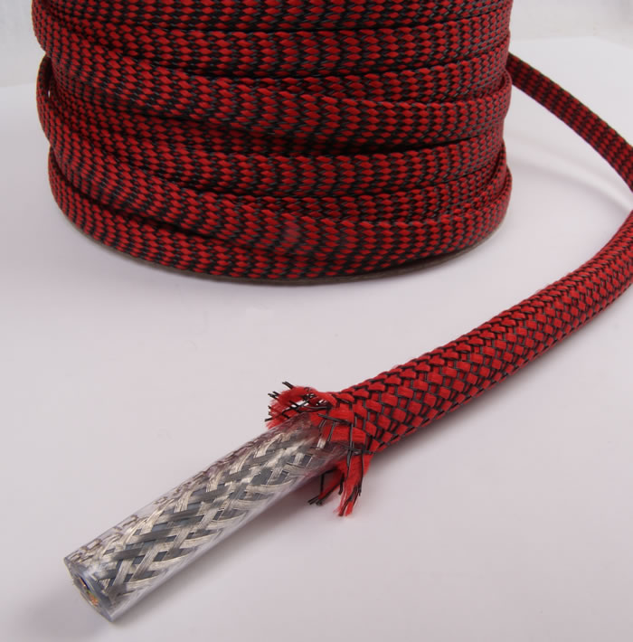ELECAUDIO NR-10 Red Braided Sleeve Nylon 7 - 15mm