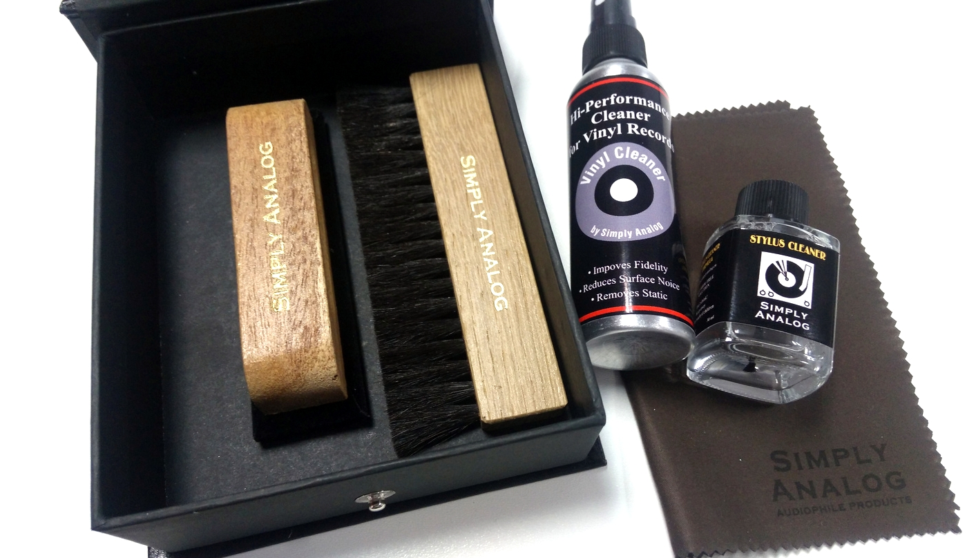Simply Analog - VINYL RECORD CLEANING BOX SET WOOD