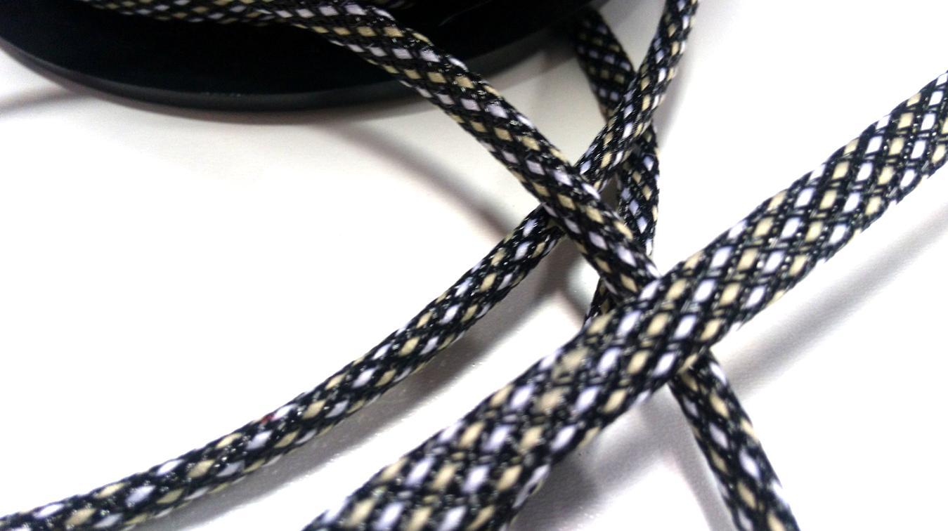 ELECAUDIO TAN SNAKE Expandable Braided Nylon Sleeve