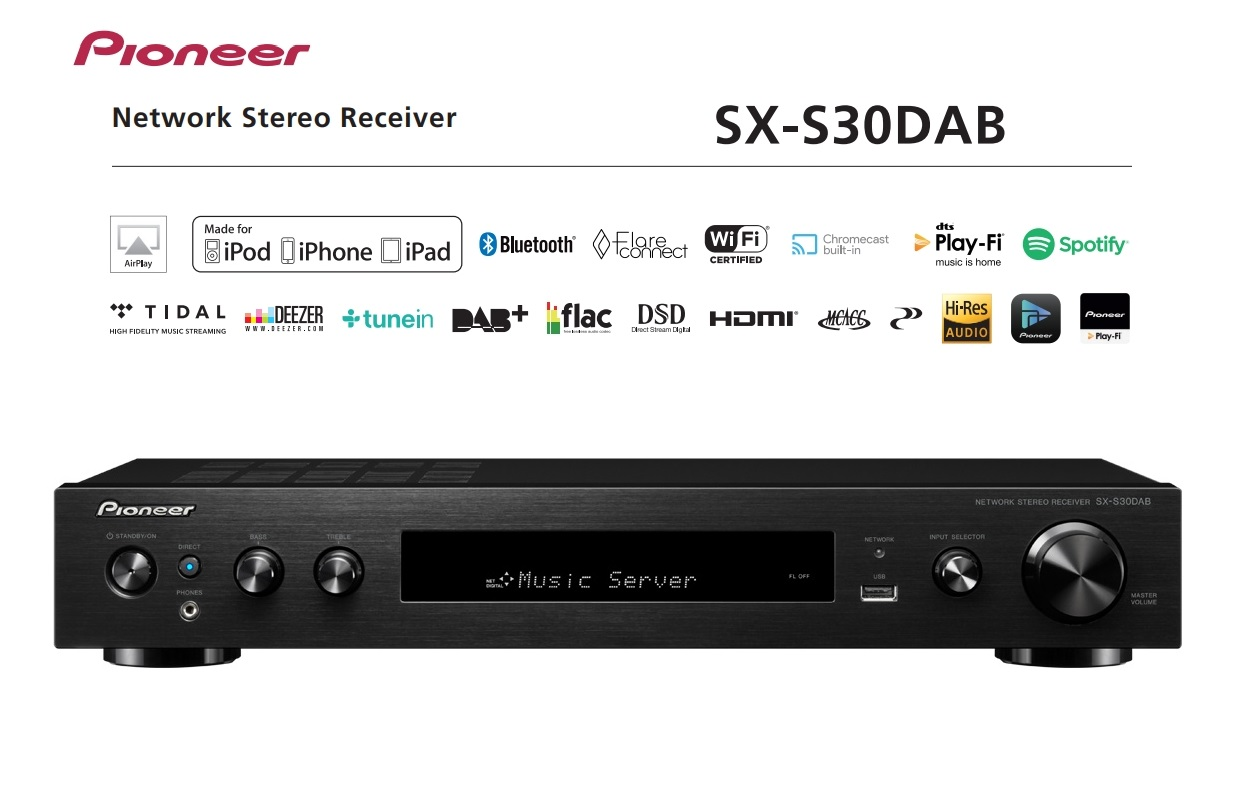 Pioneer SX-S30DAB Barevné provedení: černé - black