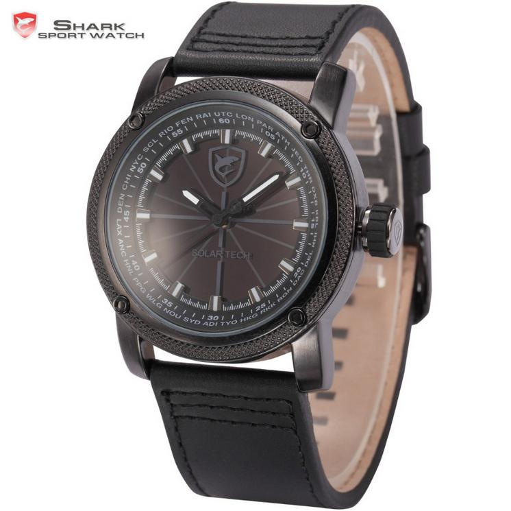 SHARKsportwatch Shark Solar Black SH136