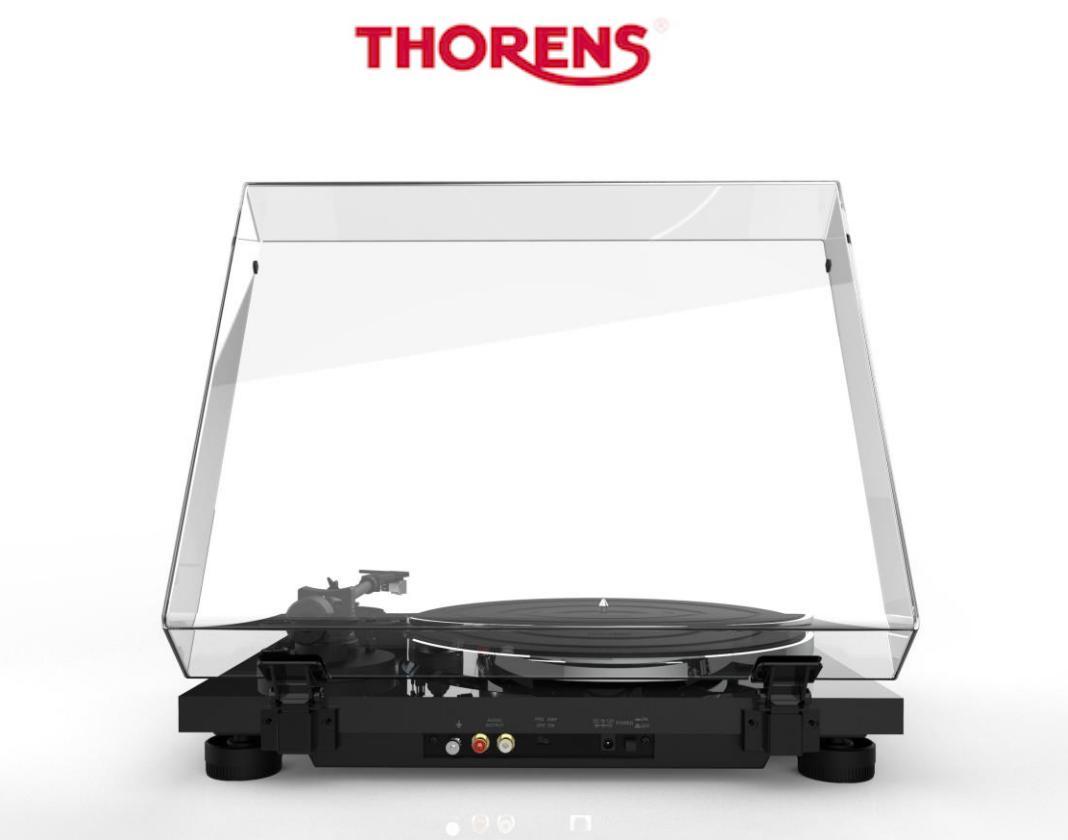 Thorens TD-201 Přenoska: bílý klavírní lak + Ortofon 2M RED