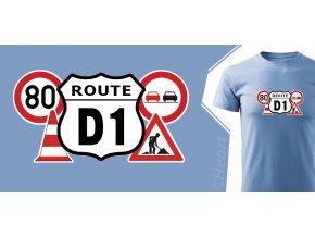 tričko Heart Route D1