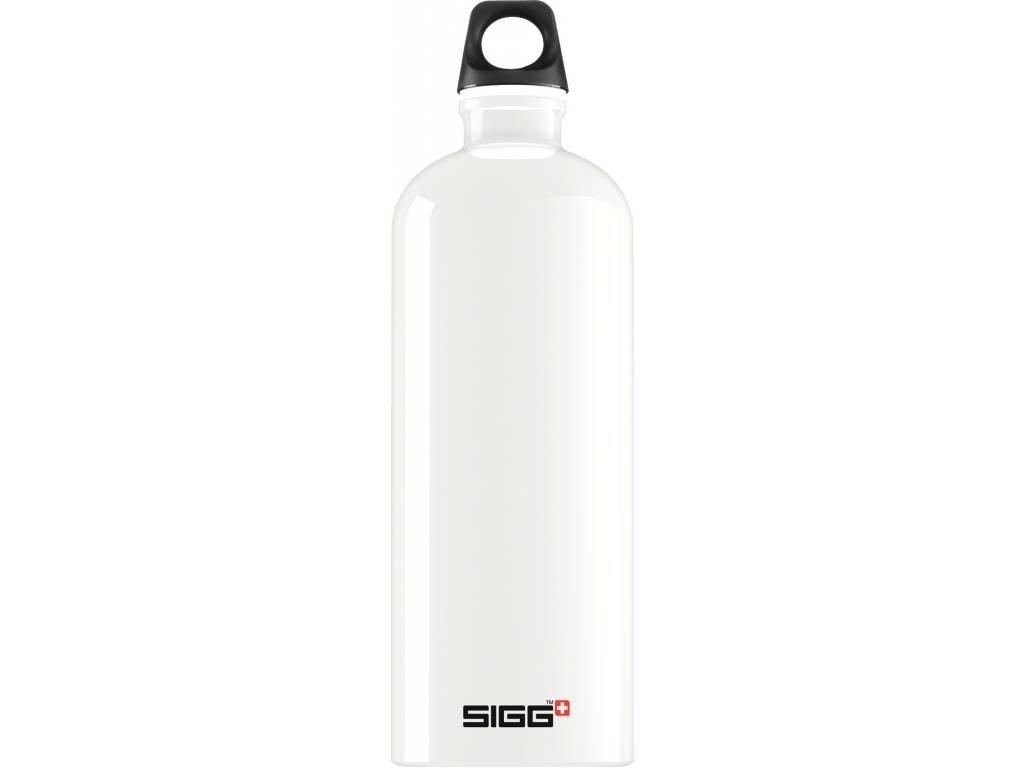 SIGG Fľaša Traveller White - kovové fľaše na vodu SIGG