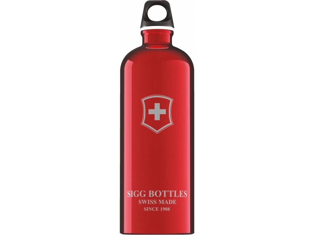 SIGG Fľaša Swiss Emblem Red - kovové fľaše na vodu SIGG