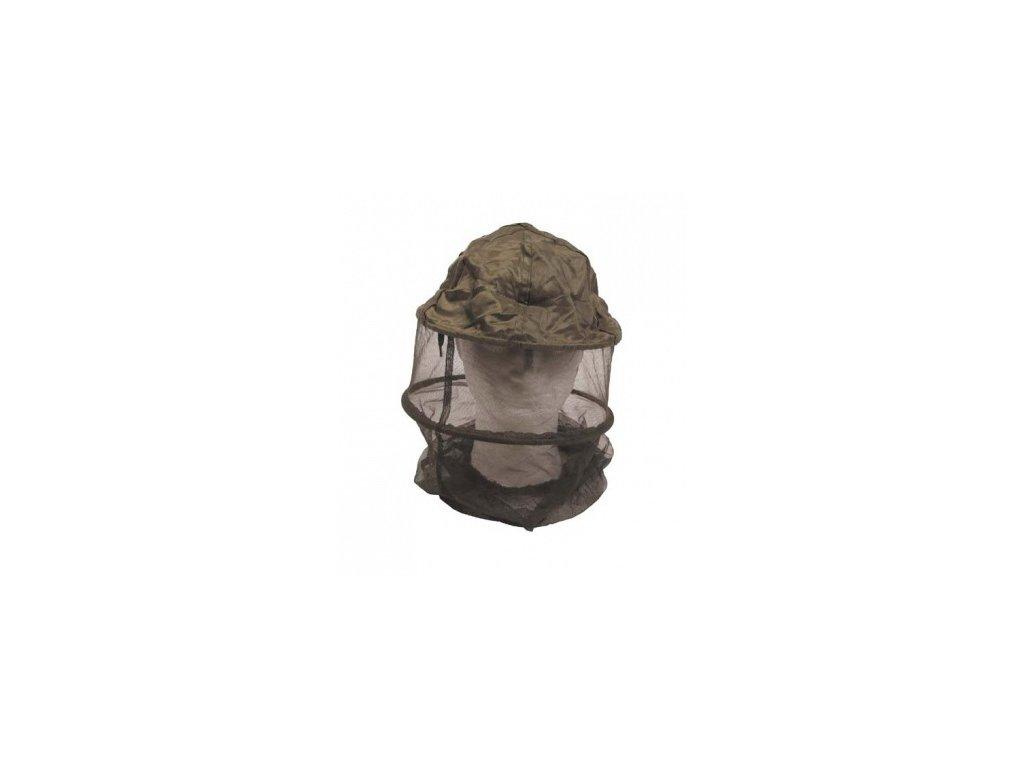 Moskytiera na hlavu MFH 10467 s obručou - olivová - sieť proti hmyzu