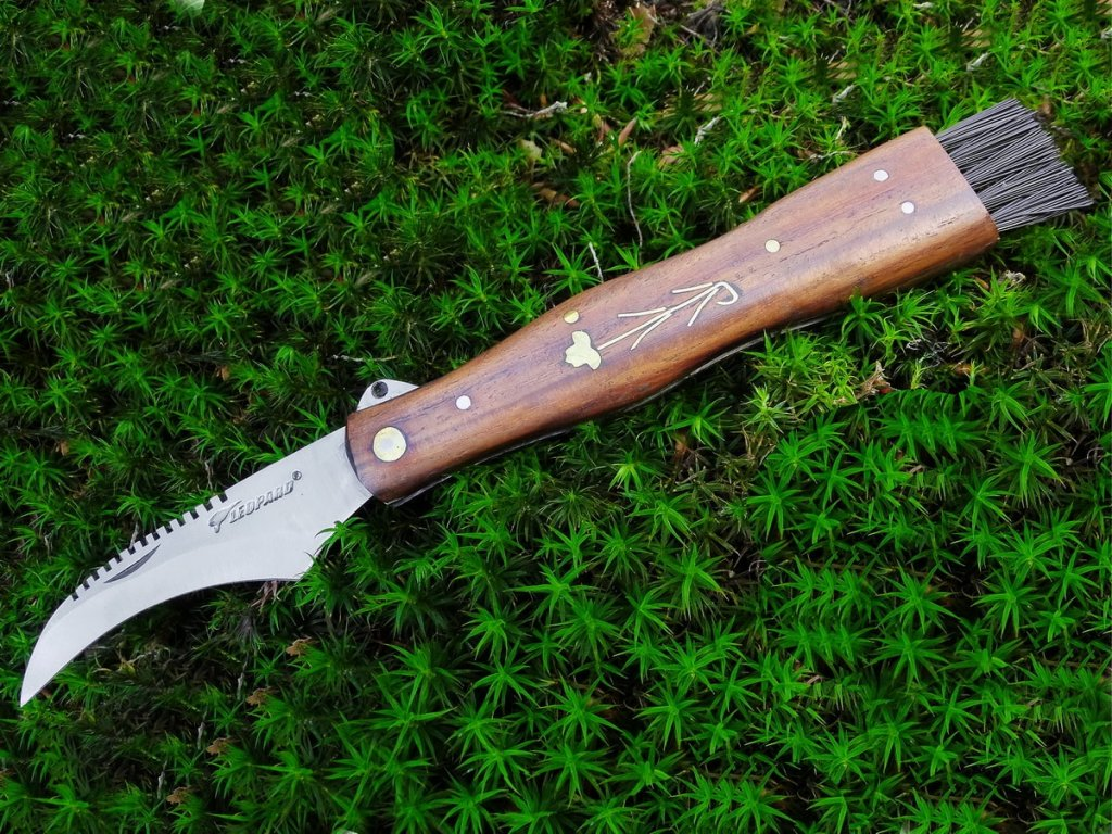 Hubársky nôž Leopard - tmavý - Hubárske nože