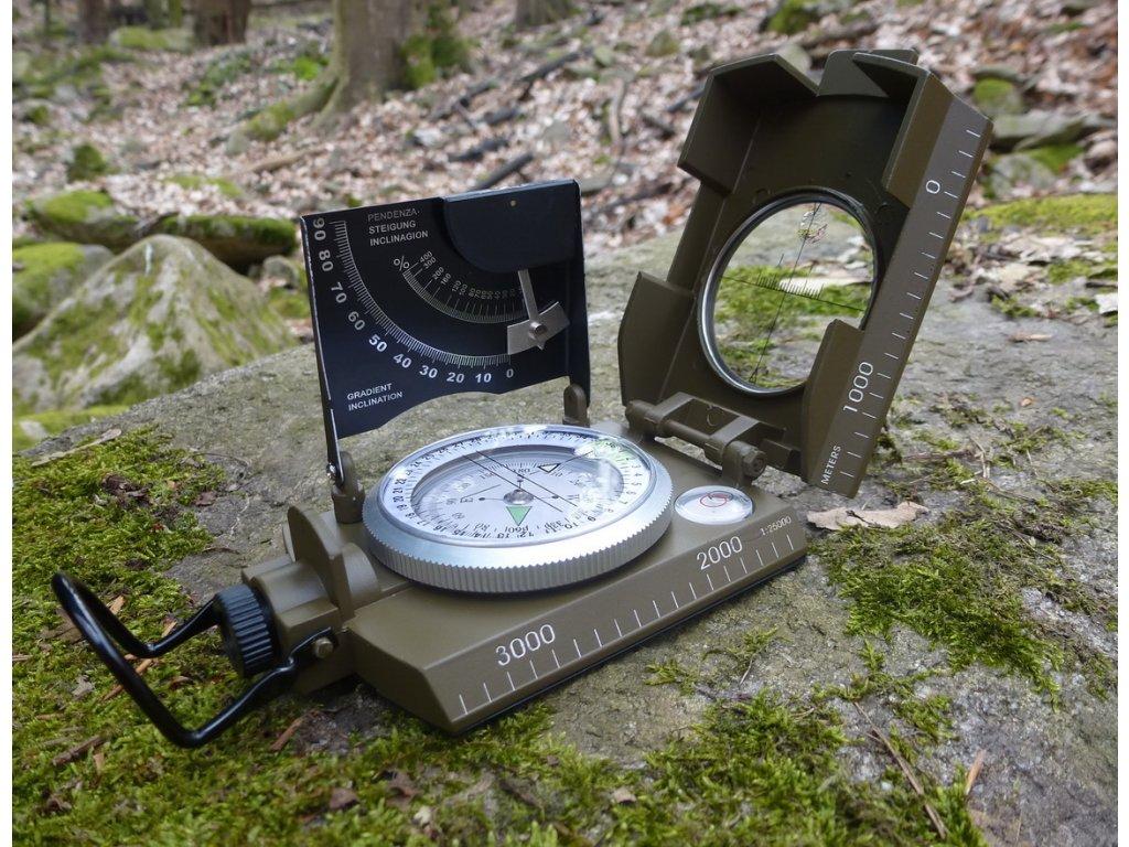 Kompas MFH 34063 Taliansky - kovový vojenský kompas