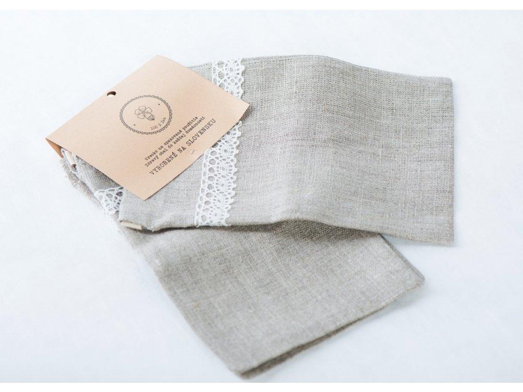 Ľanové vrecká do domácnosti 13x20 cm