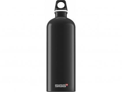 SIGG Fľaša Traveller Black - kovové fľaše na vodu SIGG
