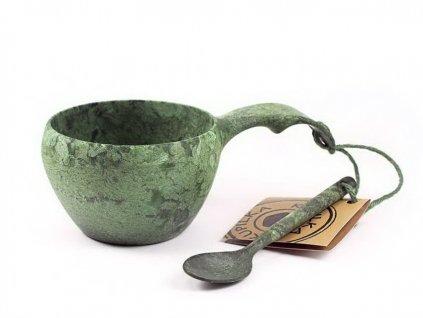 Kupilka 21 kuksa s lyžičkou zelená darčekové balenie