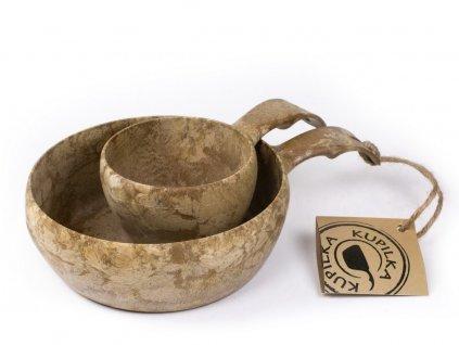 Kupilka 55+21 sada hnedá darčekové balenie - miska a pohár do lesa