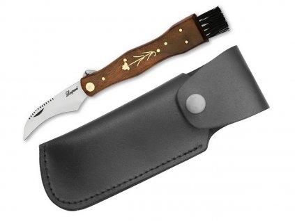 Hubársky nôž Leopard - tmavý s koženým puzdrom - Hubárske nože