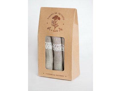 Ľanové vrecká na bylinky a huby